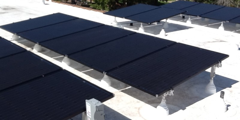 Solar Array Flat Roof Mount