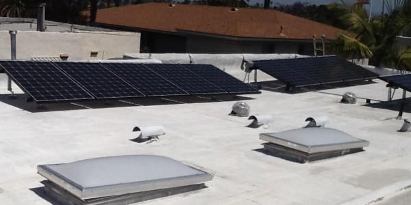 North Park CA Flat Roof Solar